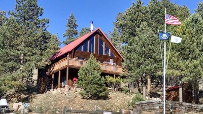 Photo for Traditional Colorado Mountain Cabin at 8740 feet. Borders National Forest