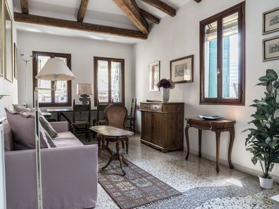 Photo for Unique apartment in Venice with 3 terraces facing the roofs of Venice and canals