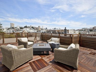 Photo for Modern Marina Condo W Spectacular Rooftop Deck