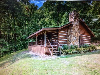 Photo for Cozy, Secluded Log Cabin! 3600' Elevation! Spectacular mountain view!