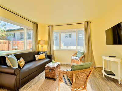 Photo for 25% OFF JUN - Beach Cottage just steps to Ocean with Deck + Shared Hot Tub!