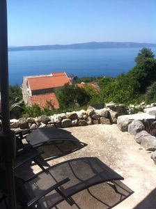 Photo for Stone house with panoramic view to the sea in Dalmatia, Makarska Riviera