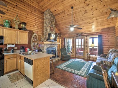 Photo for Log Cabin w/Jacuzzi - 1 mi to Silver Dollar City!