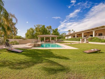Photo for New Listing! Expansive Estate w/ Pool, Spa, 3-Car Garage & Outdoor Kitchen