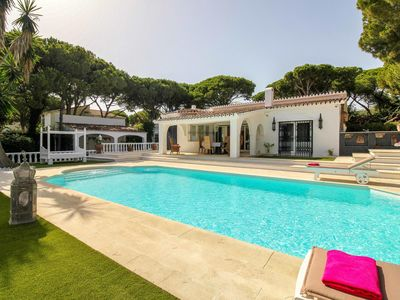 Photo for 2 LINE SANDY BEACH, 4 BEDROOM, HEATED POOL,400 METER TO THE PORT OF CABOPINO