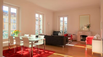 Photo for Elegance, space and light in heart of Nice (3 bedr. apt, 127 sqm)