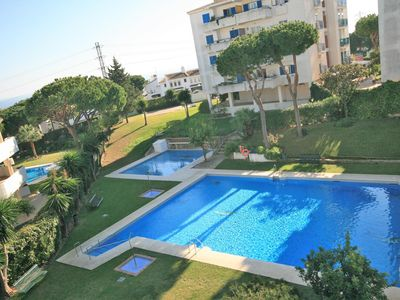 Photo for Rincon del Mar - Spacious 3 bedroom apartment with partial sea views close to bars and restaurants -withing walking distance to the beach of Calahonda