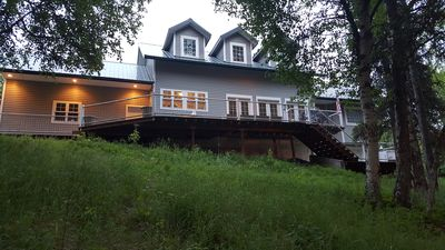 Photo for Centrally located lakefront home w/large deck and private dock