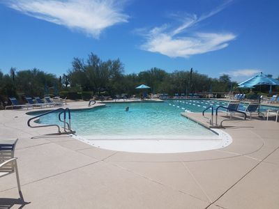 Great pools and Spas one block away from the home.