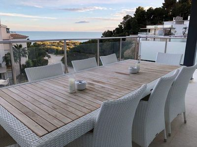 Photo for Marina Beach House 9 apartment in Altea with WiFi, air conditioning, private terrace & balcony.