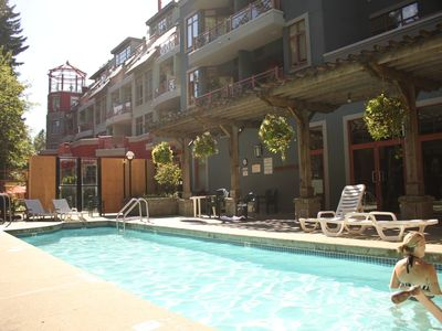 Photo for Alpenglow Whistler Village Studio with A/C POOL hot tub sauna gym cable TV WiFi