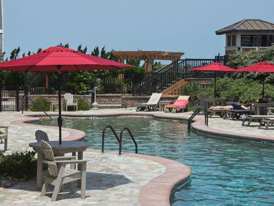 Photo for Spacious Condo Outdoor/Indoor Pool & Spa Pet with fee @ Croatan Surf Club (CSC4L - Surfs Up)