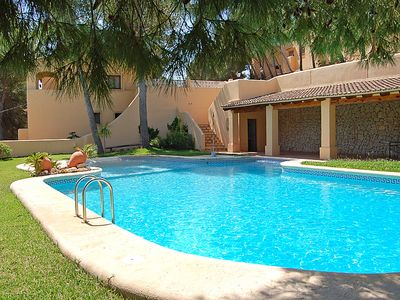 Photo for 2 bedroom Villa, sleeps 4 in Moraira with Pool, Air Con and WiFi