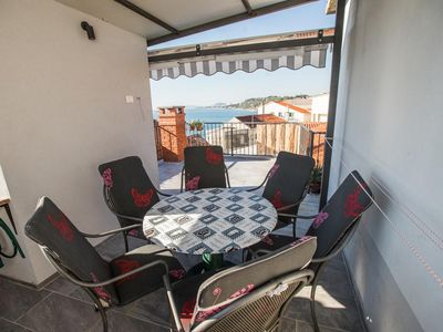 Photo for Two bedroom apartment with terrace and sea view Stobreč, Split (A-16352-a)