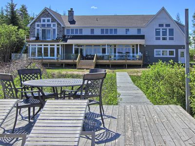 Photo for Gorgeous Lake Charlevoix Estate with private beach, dock, and frontage