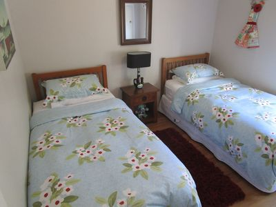 2nd bedroom with two King Single beds.
