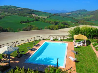 Photo for Casa dei Sogni d'Oro - Apartment Nidastore with pool 12x6 m - panoramic view