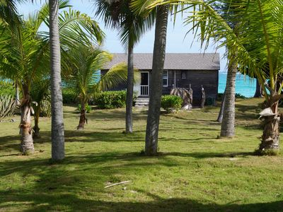 "Photo for Romantic Cottage directly on private Double Bay Beach, Bahamas, ""Senza Nome"""