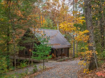 Photo for Spacious cabin in the woods w/hot tub & shared seasonal pool/fishing pond access