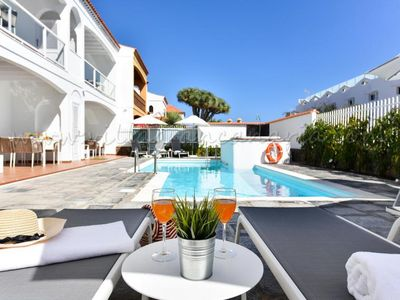 Photo for 2 bedroom Villa, sleeps 4 in Maspalomas with Pool, Air Con and WiFi