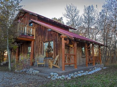 Photo for Rustic Northern Nook Cabin in Country Setting with Teton Views