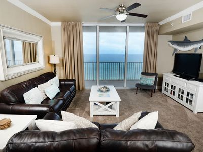 Photo for Breathtaking coastal condo ! Free beach service! Fitness center + Roman spa on-site!