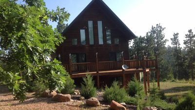 Photo for Bryan's Boulder Canyon Cabin half way between Deadwood and Sturgis