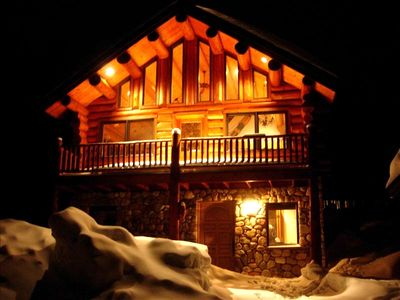 Nothing better than being warm and snug on a winter night in your log home!