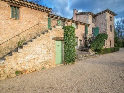 Photo for Centuries old restored Provencal Mas walking distance to Callian