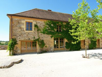 Photo for Luxury cottage with stunning views of valley with castles.
