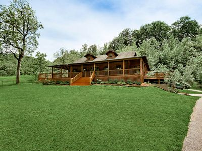 Photo for Explore, Play, Relax In This Charming Cabin Nestled Away On Steel Creek