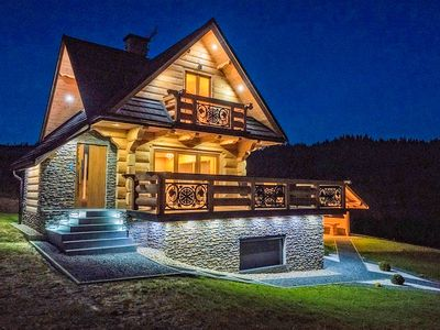 Photo for Luxury villa with a view to the Tatra Mountains. Sauna, jacuzzi, swimming pool