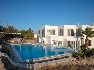 Photo for Villa Aristotle new minimal design villa on Mykonos, Aleomandra superb location