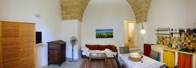 Photo for Ponente Lodge 4 / 5p with kitchen, in Masseria with shared swimming pool in Salento