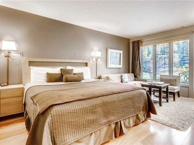Photo for Ski-in/Ski-out Vail Hotel King Bed. Pristine Mountain View, Hot Tub, Pool