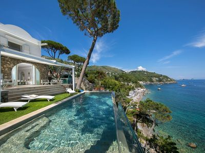 Photo for Luxury villa in Sorrento coast, with 6 bedrooms, swimming pool, private beach, 14 sleeps.