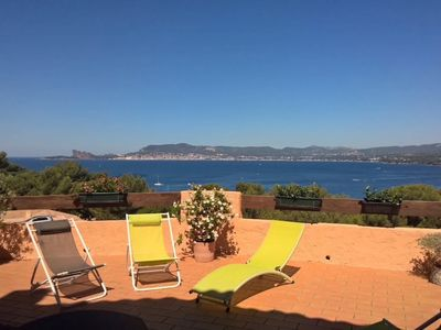 Photo for Duplex apartment for 6 people, 55 m2 terrace, exceptional sea view.