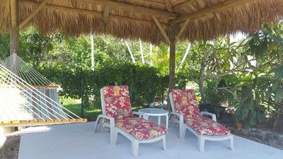 Enjoy the view from the gazebo and relax with a book or your favorite drink