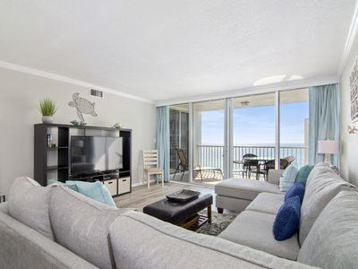 Photo for Shoreline Tower Unit 1114 is casual, comfortable & only steps from the beach.