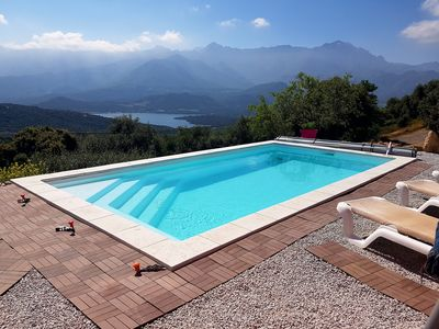 Photo for NEW HOUSE WITH HEATED POOL VIEW ON THE BARAGE and Ile Rousse