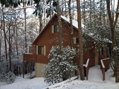 Photo for Unforgettable Secluded Cabin with Maximum Privacy up to Four People