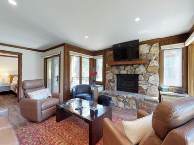 Photo for Rustic condo near Canyon Lodge w/ fireplace & shared pool/hot tub