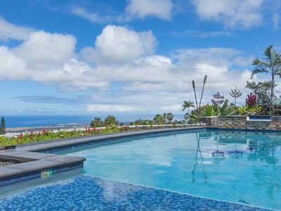 Photo for New Listing! Stunning Kona Coast Haven: Ocean Views, Media Room, Pool & Spa