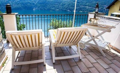 Photo for Family House, Private Terraces, Great View On Lake Como