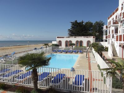 Photo for APARTMENT WITH SWIMMING POOL, BEACH AT THE FOOT OF RESIDENCE ***