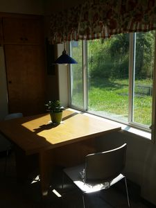 The sunny in-kitchen dining nook
