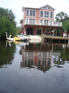 Back view of home, from Canal.