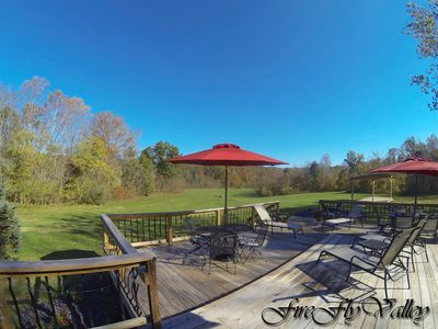 Photo for Voted #1 Best Views On The Shawnee Wine Trail.  Modern Lodge with spacious Deck
