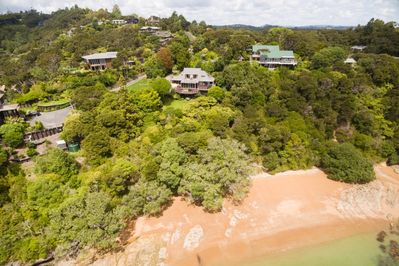 The house and proximity to beach