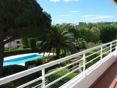 Photo for 3 rooms apartment in a standing residence with swimming pool closed to the beach and center city